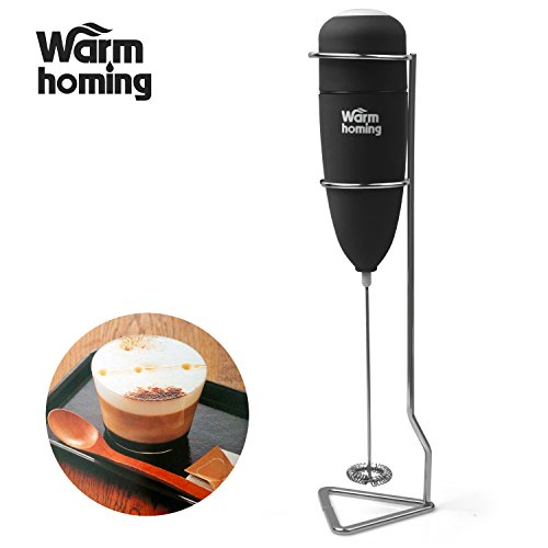 Milk Frother - Electric Rubber Handheld Milk Frother with Stand (Metal Steamer Pitcher compare prices)