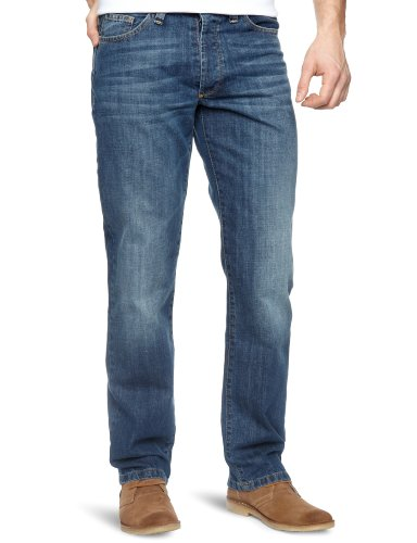Henri Lloyd Baytrek Denim Classic Fit Straight Men's Jeans Vintage Wash W30 INXL32 IN