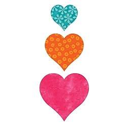 AccuQuilt GO! Fabric Cutting Dies; Heart 2-inch; 3-inch & 4-inch