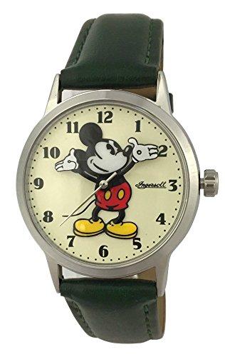 Disney Green Strap - Cream Dial 26163 - Orologio da polso Unisex