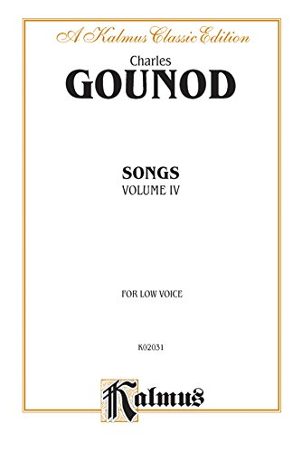 Songs, Vol 4 Low Voice (French Language Edition) (Kalmus Edition)  (Tapa Blanda)