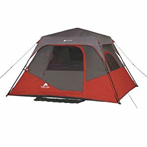 Buy Ozark Trail 10' x 9' Family Sleep 6 Person Instant Cabin Tent, Red by Ozark Trail