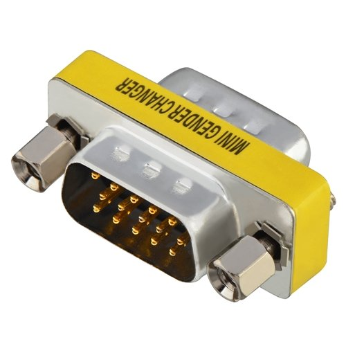 HD15 (HD VGA / SVGA) M / M Mini Gender Changer Adapter