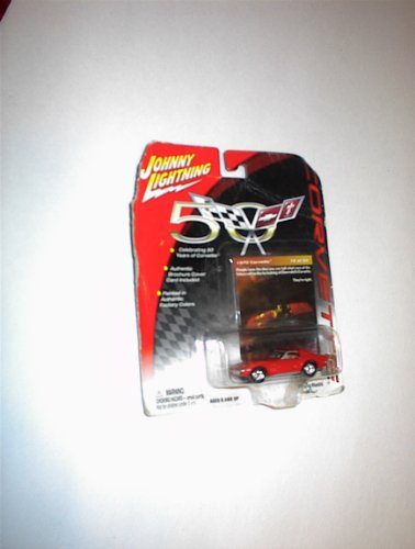 Johnny Lightning 50 YEARS OF CORVETTE #16 RED 1970 CORVETTE PLAYING MANTIS - 1