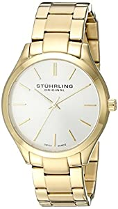 Stuhrling Original Unisex 884.02 Classic Gentry  23k Gold-Layered Watch