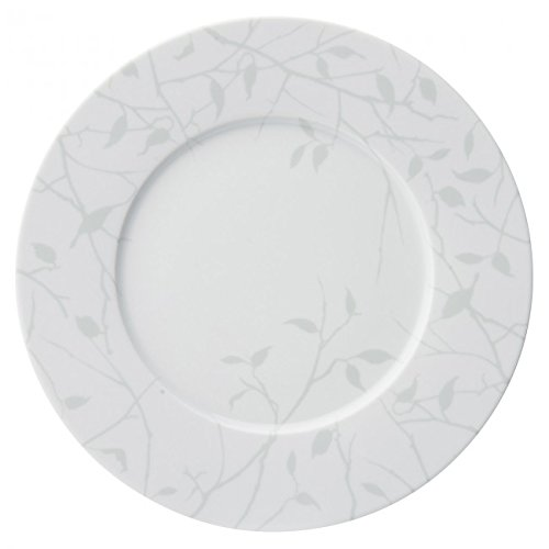 Guy Degrenne 211883 Esquisse Ombre Lot de 3 Assiettes de Présentation Porcelaine Gris 32 x 32 cm