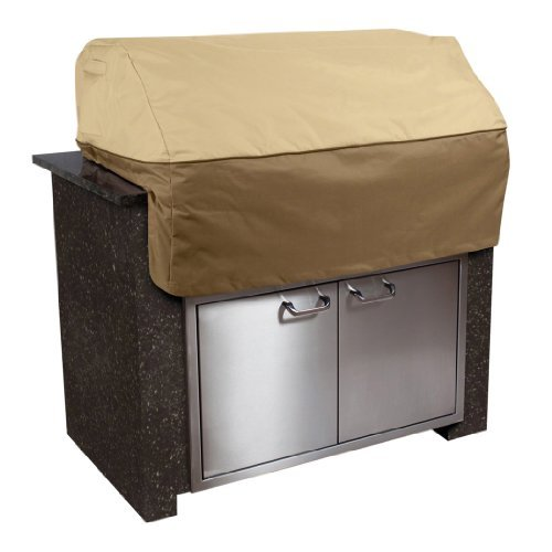 Classic Accessories Veranda Island BBQ Grill Top Cover, Medium Color: Pebble Size: Medium Home & Kitchen