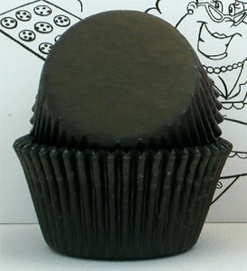 Goldas Kitchen 100 Count Baking Cups, Mini, Black (Mini Cupcake Paper Liners compare prices)