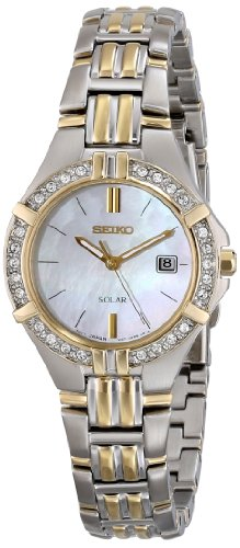 Seiko Women's SUT088 Dress Solar Sporty Crystals Japanese Quartz Watch