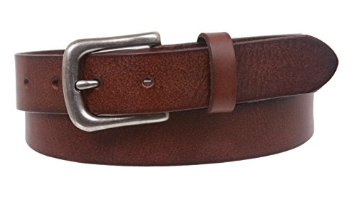 "1 1/8"" Snap On Oil Tanned Skinny Vintage Cowhide Leather Belt Size: 36 Color: Brown"