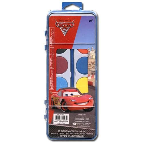 13pc Disney Cars 2 Water Color Set