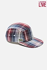 Men's L!VE Cotton Twill Plaid Printed Flat Brim Cap