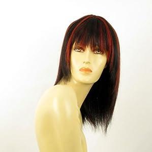perruque femme 100 cheveux naturel longue lisse noir. Black Bedroom Furniture Sets. Home Design Ideas
