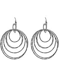 Eternz Silver Plated Drop Earrings For Women (EZEA009)