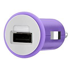 Belkin Micro Car Charger 10W/2.1Amp, Purple