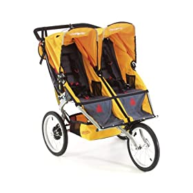BOB Ironman Sport Utility Stroller Duallie in Yellow