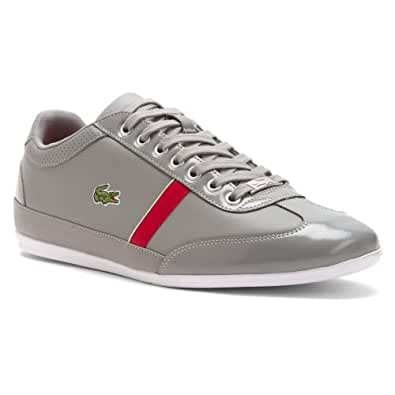 Amazon.com: Lacoste Men's Misano Sport Slx Grey/Dark Red 11.5 D: Shoes