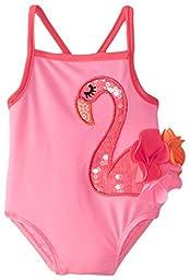 Mud Pie Baby-Girls Newborn Flamingo Swimsuit, Pink, 0-6 Months