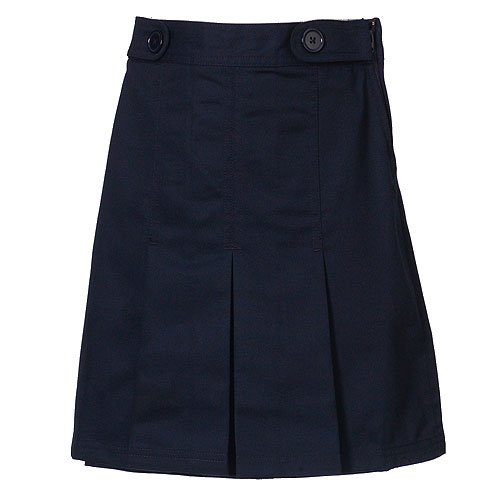 Plus Size Girls School Uniform Navy Pleated Tab Scooter Skirt 8.5-20.5
