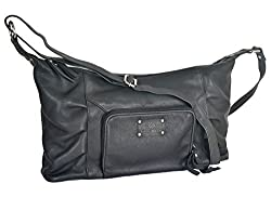 Aditi Wasan Black Genuine Leather Shoulder Bag