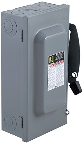 Square D by Schneider Electric DU323 100-Amp 240-Volt 3-Pole Non-Fusible Indoor General Duty Safety Switch, ,