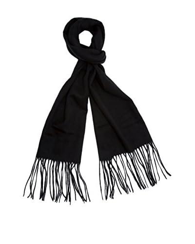 a & R Cashmere Women's Cashmere & Wool Waterweave Scarf, Black