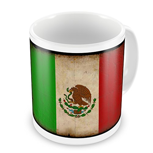 Coffee Mug Mexican Flag With A Vintage Look - Neonblond