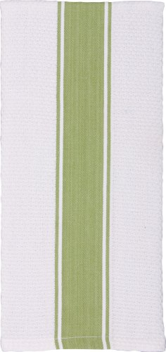 Gourmet Classics Green Honeycomb Banded Towel