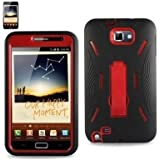 (Super Cover /Silicone Case + Protector Cover) Hard Case for Samsung Galaxy Note i9220/N7000 BLACK/RED