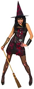Ladies Punk Witch Costume Small UK 8-10 for Halloween Fancy Dress