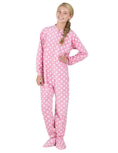 Footed Pajamas - Pretty In Polka Kids Fleece