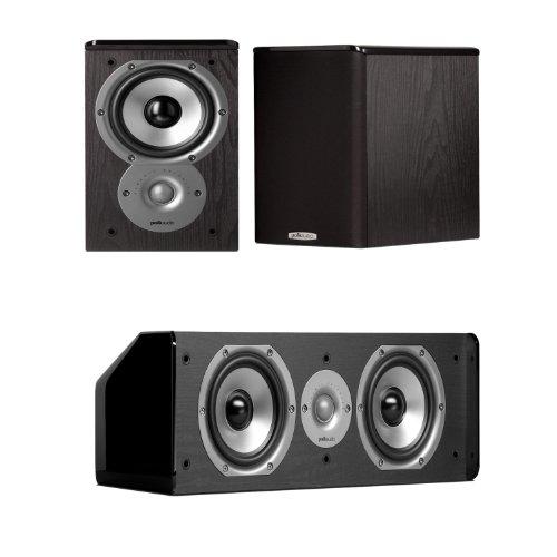 Polk Audio Tsi100 Bookshelf Speakers (Pair) With A Polk Audio Cs10 Center Channel Speaker Bundle!