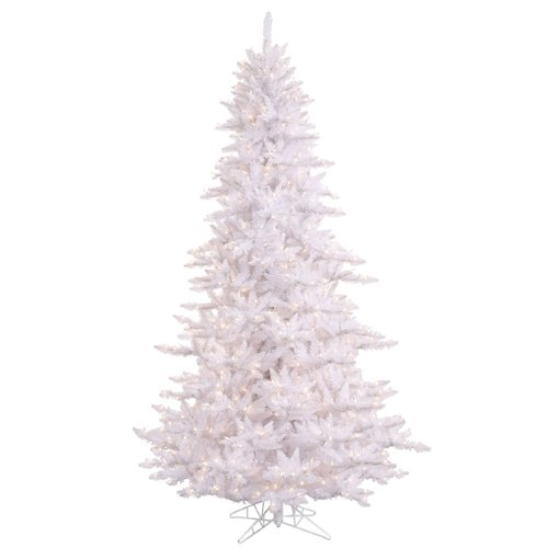 12 Pre Lit Winter White Fir Artificial Christmas Tree