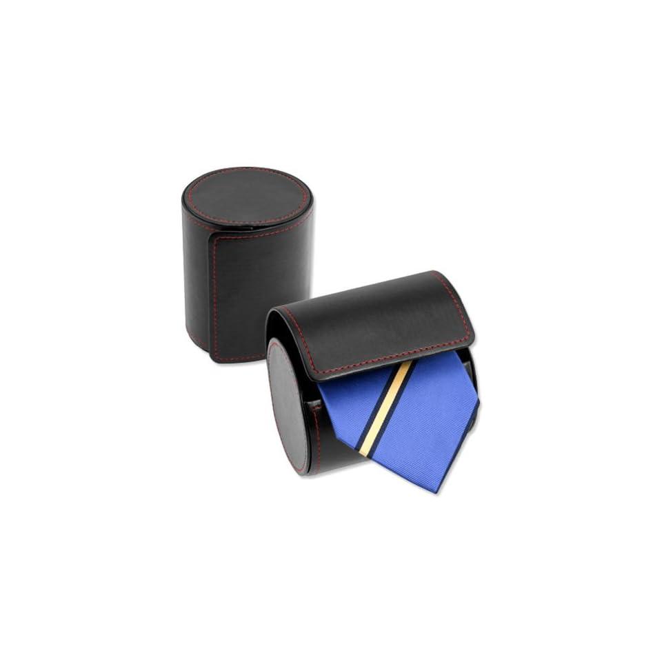 Black Leatherette Tie Case  Leatherette Tie Holder