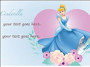 Personalised Disney Cinderella A4 Large Edible Cake Topper