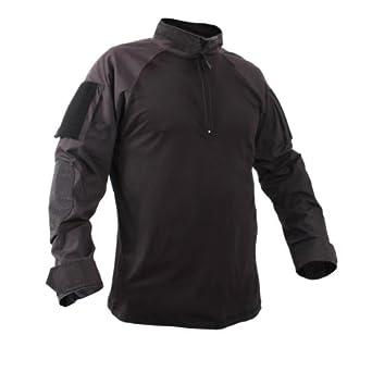 Rothco 99010 Black 1 4 Zip Military Combat Shirt by Rothco