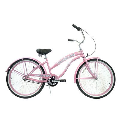 Women's 3-Speed Premium Beach Cruiser Frame Color: Pink