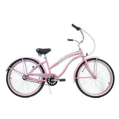 Women's 3-Speed Premium Beach Cruiser Frame Color: Pink