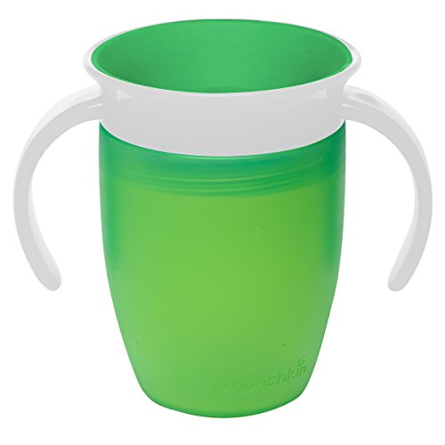 Munchkin Miracle 360 Trainer Cup, 7 Ounce 1-Pack - Green - 1
