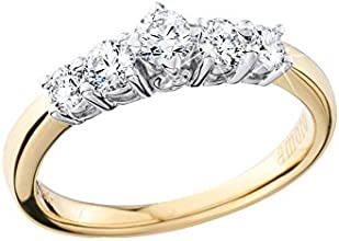 Amoro 18kt Yellow Gold Diamond Five Stone Anniversary Ring 05 cttw H Color VS2 Clarity