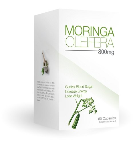 Energy Booster, Powerful Antioxidant, Vitamin Rich Superfood- TFX #1Moringa Oleifera Leaf 800mg 60c