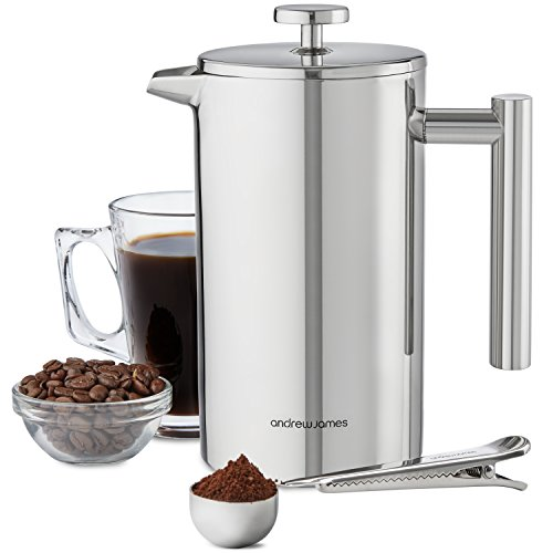andrew-james-1000ml-double-walled-stainless-steel-cafetiere-gift-set-with-coffee-measuring-spoon-and