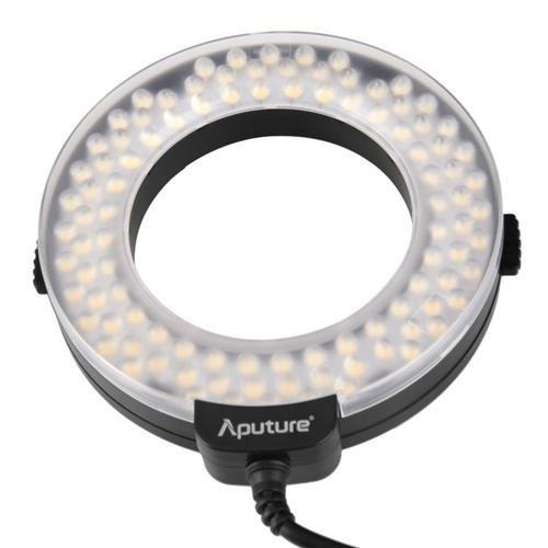 Aputure Amaran AHL-HN100 CRI 95 + LED Macro Ring Flash Light pour Nikon D90 DSLR D4 D600 D800 D5200 D7000 D7100 l'appareil photo LF336