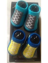 Nike Jordan Jumpman Baby Boys Sneaker Booties-Teal & Gray, Blue & Yellow 0-6 Months