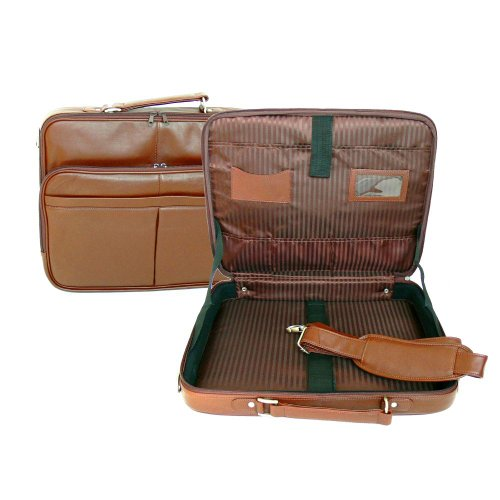 17-Inch Leather Laptop Carrying Case