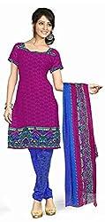 Fabgruh Presents Crepe Dress Material(Rani)