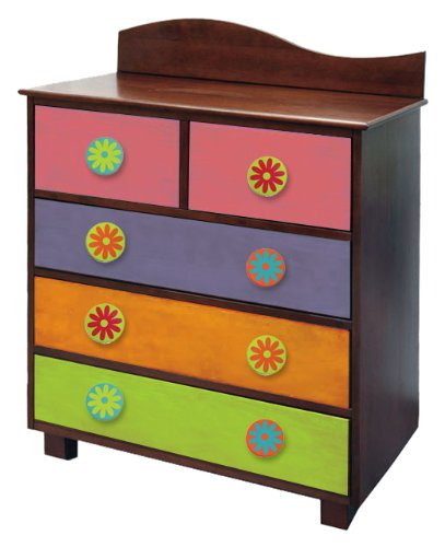 Room Magic Day of the Diva 5 Drawer Chest, Dark
