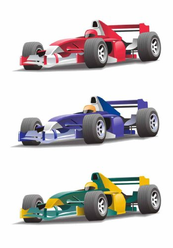 Formula 1 Wall Decal - 30 Inches H X 21 Inches W - Peel And Stick Removable Graphic front-793358