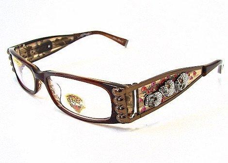 Eyeglass Frames Ed Hardy : ED HARDY EHO712 Eyeglasses Vintage Tattoo EHO 712 Hazel ...