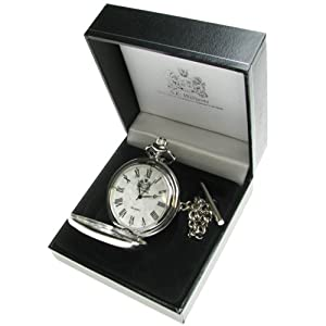 18th Birthday Gift, Engraved Mother of Pearl Pocket Watch with Pewter Rugby Player Case in Gift Box by The Great Gifts Company